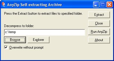 AnyZip SFX (self-extracting archive)